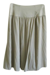 Burberry Chiffon Pleated Skirt grey beige