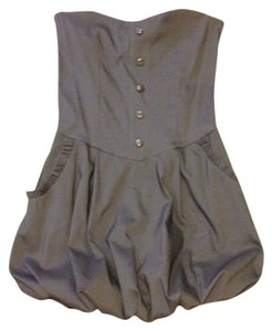 luly short dress gray-silver Mini Out Top Baloon on Tradesy