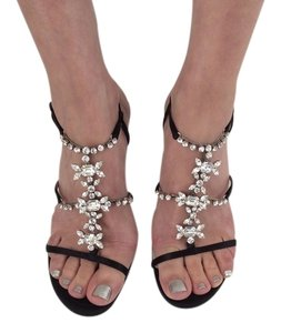 Dior Black/Rhinstones Sandals