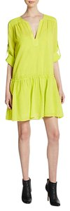 BCBGMAXAZRIA short dress citrus yellow Drop Waist on Tradesy