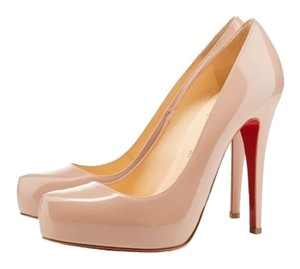 Christian Louboutin Nude Patent Patent Leather Beige Pumps