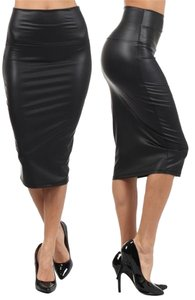 candy girl Fuax Leather Skirt Black