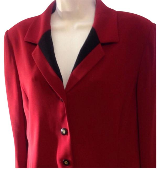 Preload https://img-static.tradesy.com/item/18541840/kasper-red-and-black-blazer-size-petite-14-l-0-1-650-650.jpg