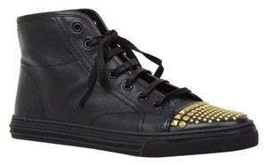 Gucci 354299 Leather Hi-top Black Athletic