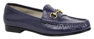 Gucci Patent Leather 318394 Blue Flats