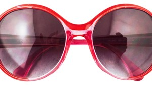 Dolce&Gabbana D&G Red Oversized Gradiant Sunglasses