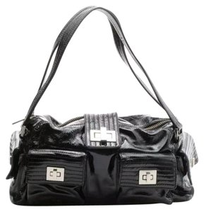 Kooba Black Patent Shoulder Bag