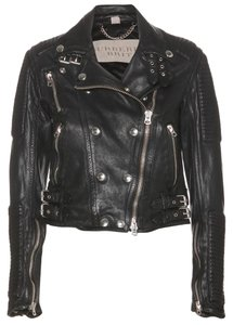Burberry Leather Studded Biker Motorcycle Jacket