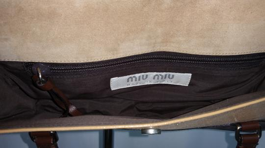 Miu Miu Brown Leather Satchel