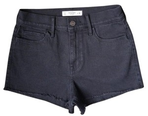 Abercrombie & Fitch & Denim Cut-off Nwot Mini/Short Shorts Black