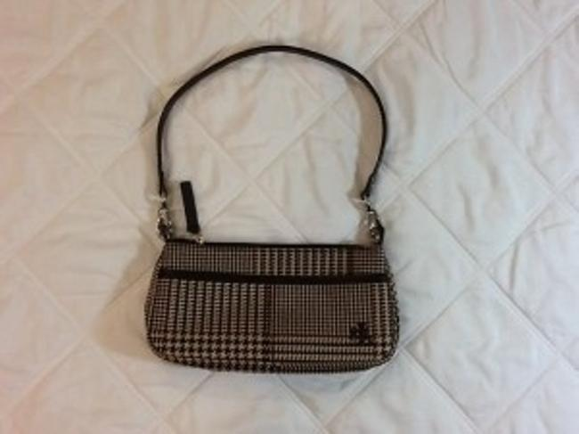 Item - Perfect Little Essentials Wristlet Brown Black Tan & Red Accent Plaid Fabric Clutch