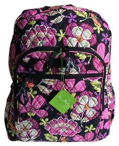 Vera Bradley Cotton Printed Floral Campus Backpack
