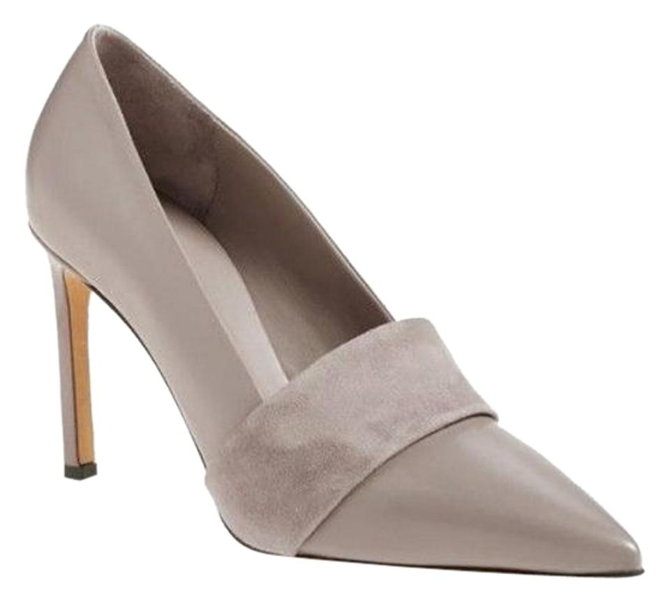 Vince Taupe and Leather and Taupe Suede Pumps 776fba