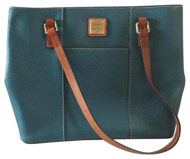 Item - Lexington And Small Shopper Tote Turquoise Leather Shoulder Bag