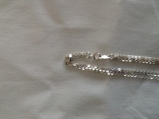 Other Sterling silver triple strand garnet necklace