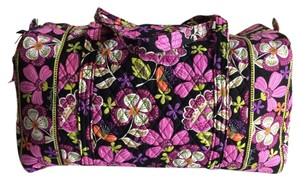 Vera Bradley Flowershower Teal Yellow Floral Ultimate Piroutte Pink Travel Bag