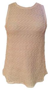Anthropologie Knit Taupe Anthro Top Print