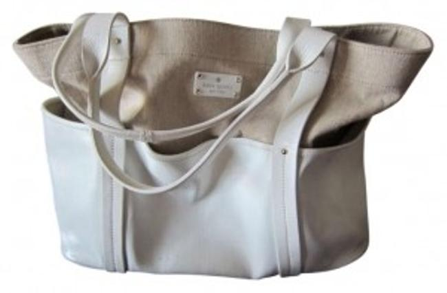 Item - Study In Contrast Market Tote White Canvas Weekend/Travel Bag