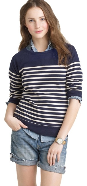 Preload https://img-static.tradesy.com/item/1854429/jcrew-navy-pier-stripe-sweatshirthoodie-size-2-xs-0-0-650-650.jpg