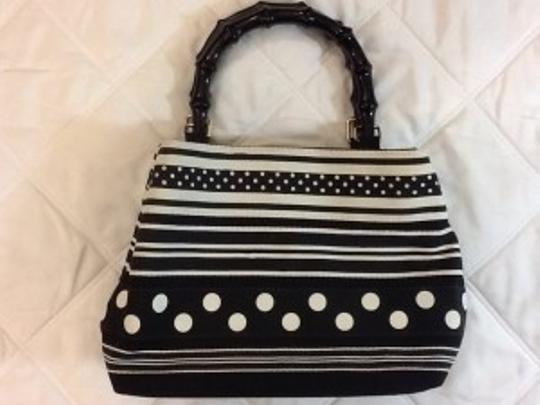 Preload https://item1.tradesy.com/images/tiannl-black-and-white-poka-dot-canvas-tote-18545-0-0.jpg?width=440&height=440