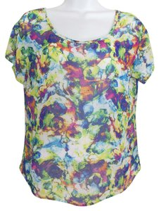 Material Girl (by Madonna) Abstract Colorful Pattern Top