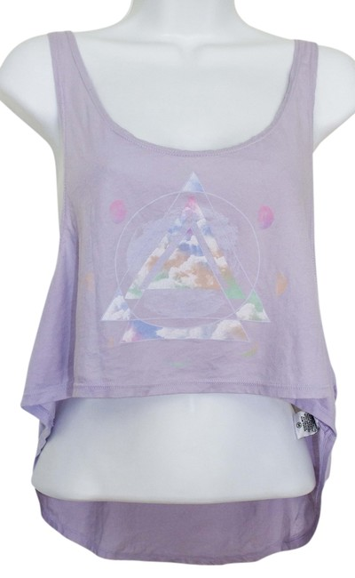 Item - Purple M Abstract Wanderlust Geometric Crop Tank Top/Cami Size 8 (M)