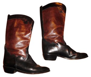 Joan & David Southwest Cowgirl Made In Italy Brown, Black Boots