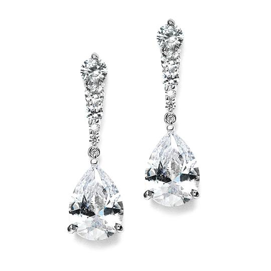 Silver Crystal Dangle Event Earrings Image 1