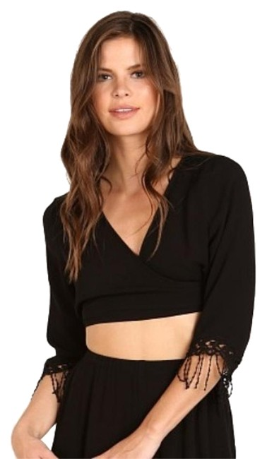 Item - Black Eternity Duet Wrap Crop Top Cover-up/Sarong Size 4 (S)