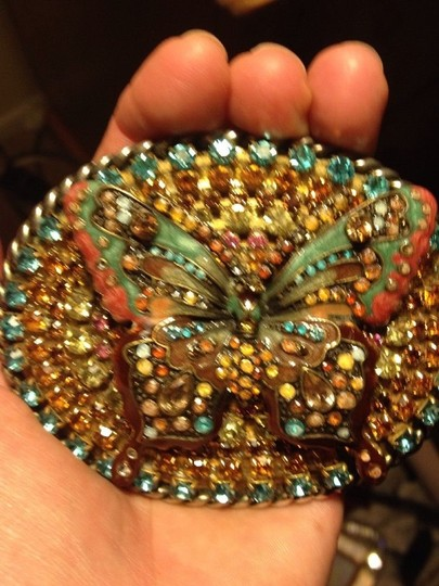 Other Gorgeous Butterfly Belt- Magnififent Array Of Crystals. One Of A Kind.