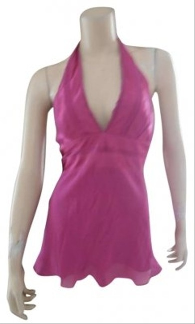 Preload https://item2.tradesy.com/images/bcbgmaxazria-pink-silk-halter-top-size-2-xs-185476-0-0.jpg?width=400&height=650