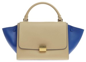 Céline Celine Leather Beige Tote in Baige