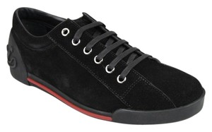 Gucci Womens Leathersuede Sneaker Trainer Black Suede/CBB00 1000 Athletic