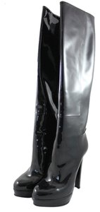 Gucci Patent Leather Shiny Black Boots