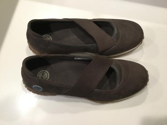 Timberland Slip Ons Athletic Sneakers Wedge Brown Flats Image 1