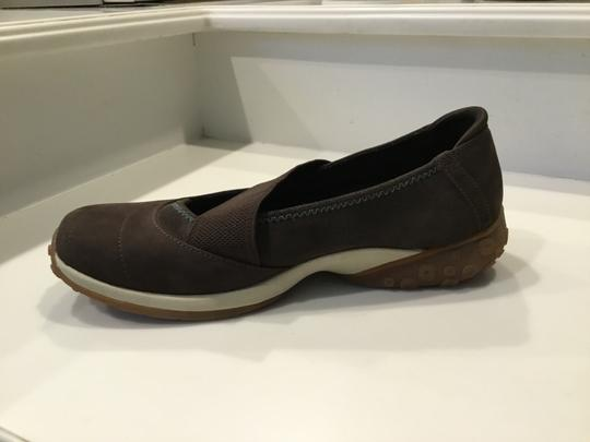 Timberland Slip Ons Athletic Sneakers Wedge Brown Flats Image 5