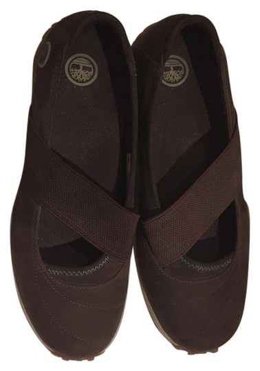 Timberland Slip Ons Athletic Sneakers Wedge Brown Flats Image 6