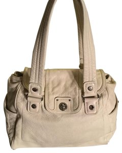 Marc Jacobs Satchel in Cream & Silver