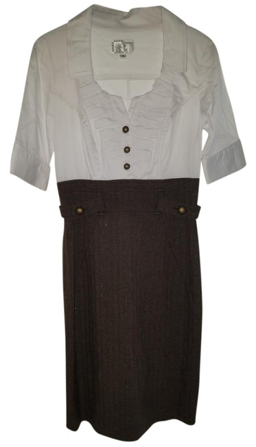 Preload https://img-static.tradesy.com/item/18548134/alberto-makali-white-brown-retro-steampunk-sexy-librarian-style-55639-mid-length-workoffice-dress-si-0-3-650-650.jpg