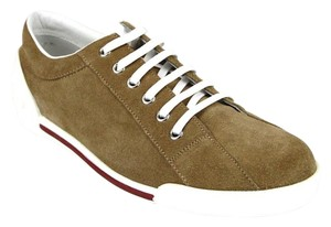 Gucci Womens Leathersuede Sneaker Trainer Brown Suede/CBB00 2309 Athletic