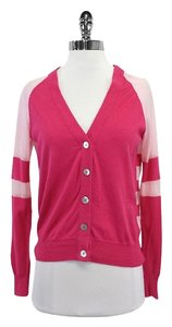 Marc Jacobs Pink Striped Cardigan