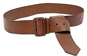 Prada PRADA Brown 100% Pebble Leather Belt w/Matching Buckle - 90