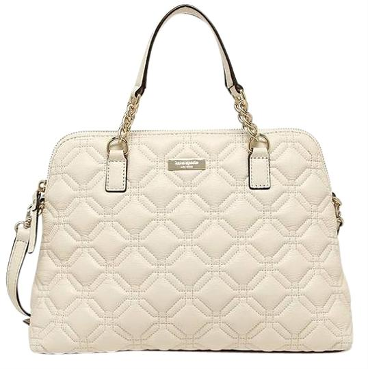Kate Spade Quilted Leather Neutral Satchel in Bone Image 0