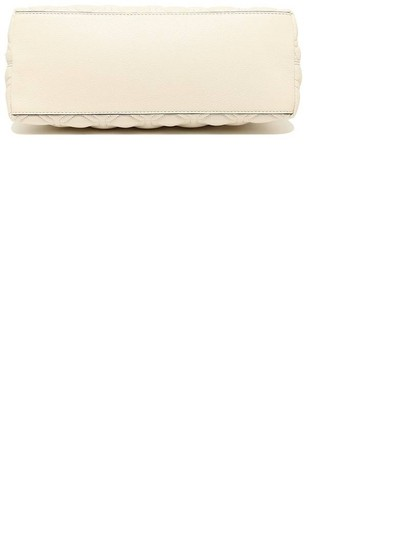 Kate Spade Quilted Leather Neutral Satchel in Bone Image 2