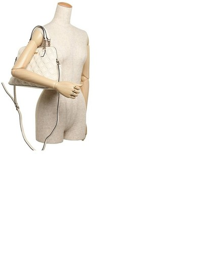 Kate Spade Quilted Leather Neutral Satchel in Bone Image 4