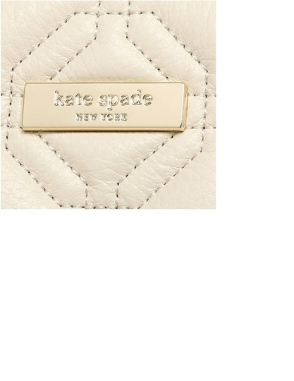 Kate Spade Quilted Leather Neutral Satchel in Bone Image 5