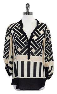 Diane von Furstenberg Multi Color Cotton Silk Top