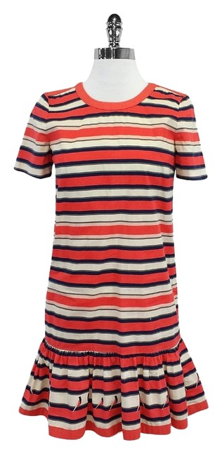 Preload https://img-static.tradesy.com/item/18548512/marc-by-marc-jacobs-multicolor-striped-cotton-mini-short-casual-dress-size-0-xs-0-1-650-650.jpg