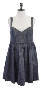 Ali Ro short dress Blue Chambray Sleeveless on Tradesy