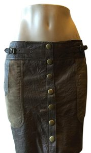 Catherine Malandrino Mini Skirt Brown